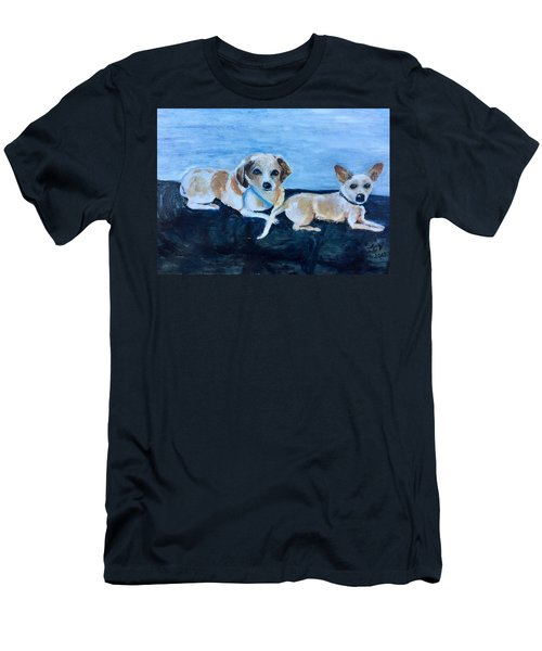Dogs Resting Men's T-Shirt (Athletic Fit)