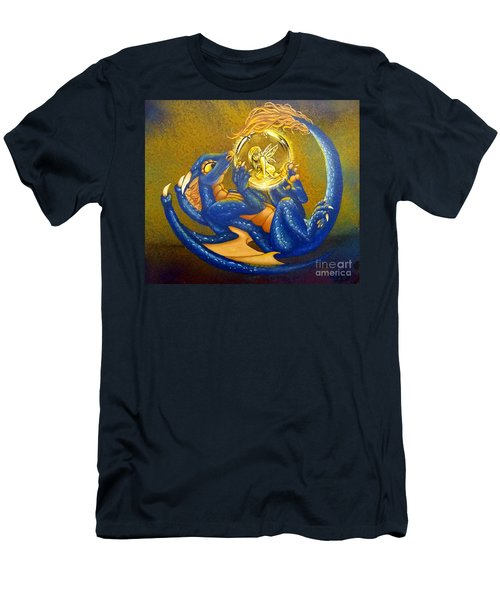 Dragon And Captured Fairy Men's T-Shirt (Athletic Fit)