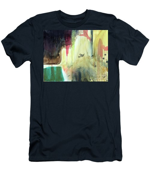 Men's T-Shirt (Athletic Fit) featuring the painting Envisage by Robin Maria Pedrero
