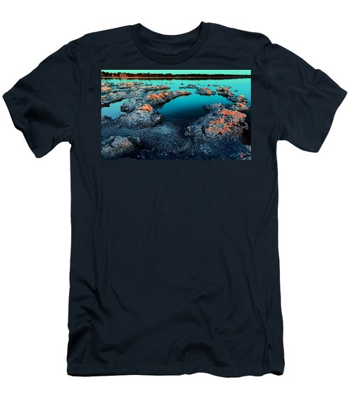 Men's T-Shirt (Athletic Fit) featuring the photograph Evening In Lake Walyungup by Julian Cook