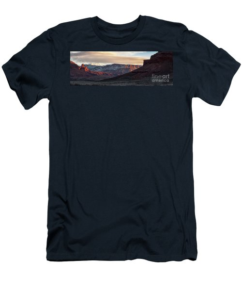 Men's T-Shirt (Athletic Fit) featuring the photograph Fisher Towers by Bitter Buffalo Photography