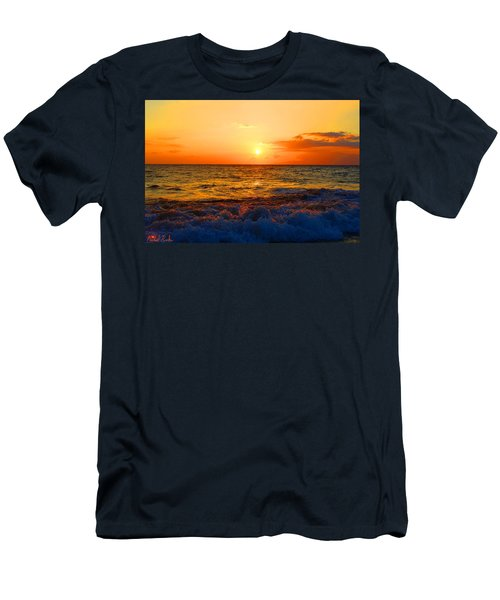 Hawaiian Sunset Men's T-Shirt (Slim Fit) by Michael Rucker