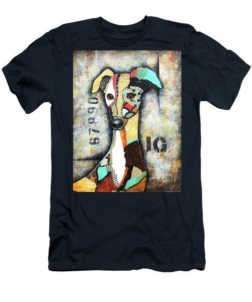Italian Greyhound Men's T-Shirt (Slim Fit) by Patricia Lintner