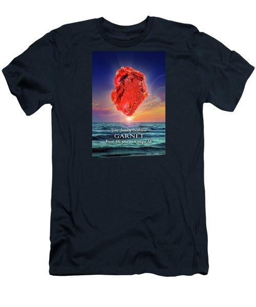 January Birthstone Garnet Men's T-Shirt (Athletic Fit)