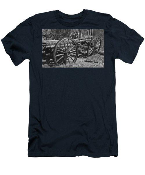 Men's T-Shirt (Slim Fit) featuring the photograph  Junk Pile by Debby Pueschel
