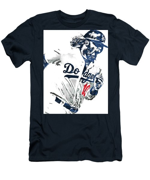 Justin Turner Los Angeles Dodgers Pixel Art Men's T-Shirt (Athletic Fit)
