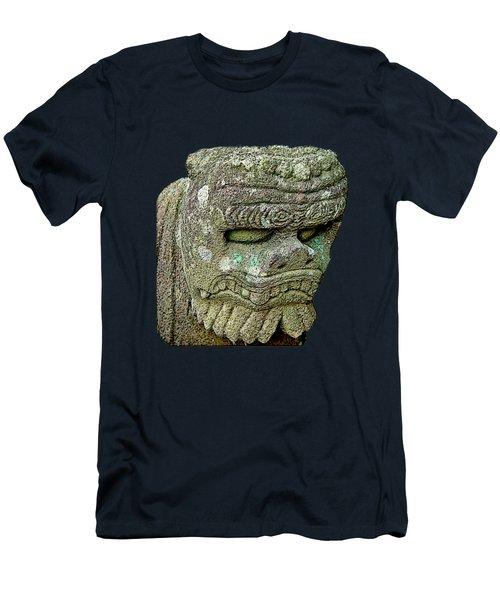 Men's T-Shirt (Athletic Fit) featuring the mixed media Komainu02 by Yoshimitsu Takuki
