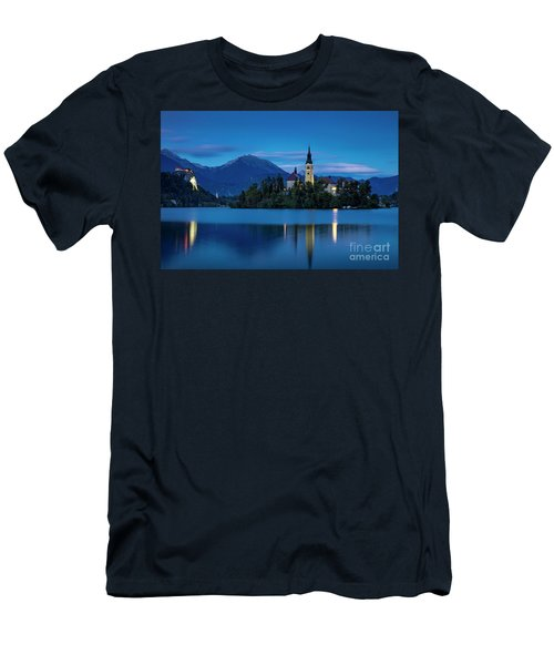 Men's T-Shirt (Slim Fit) featuring the photograph Lake Bled Twilight by Brian Jannsen