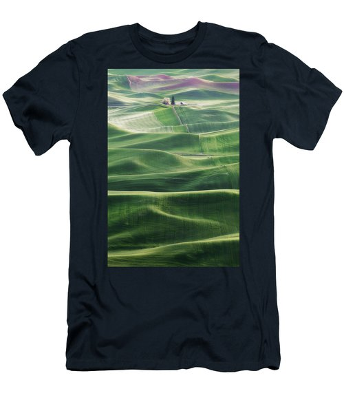 Men's T-Shirt (Slim Fit) featuring the photograph Land Waves by Ryan Manuel