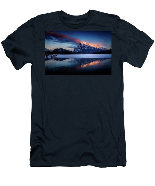Last Light On Mount Rundle Men's T-Shirt (Athletic Fit)