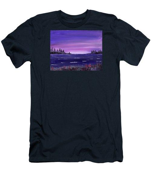 Lavender Sunrise Men's T-Shirt (Athletic Fit)
