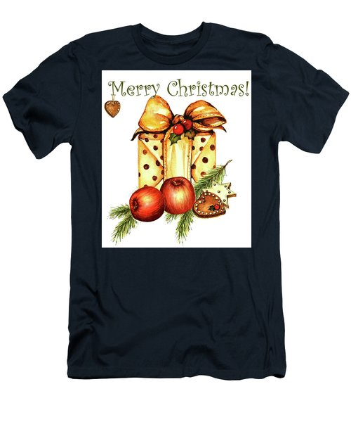 Merry Christmas Men's T-Shirt (Slim Fit) by Heidi Kriel