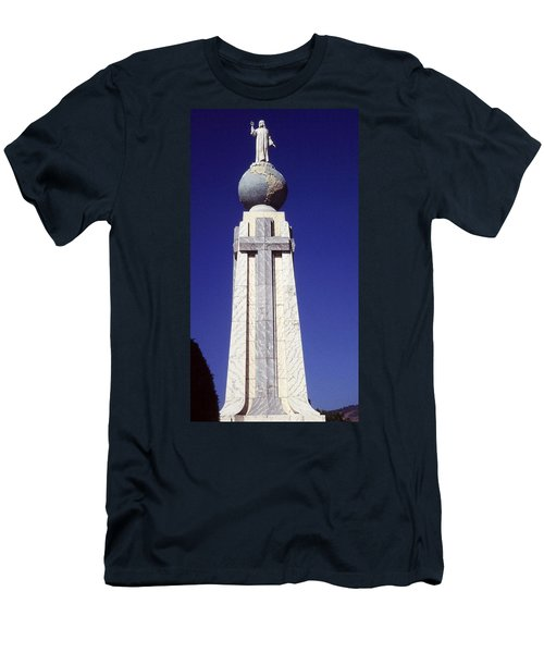 Monumento Al Divino Salvador Del Mundo Men's T-Shirt (Athletic Fit)
