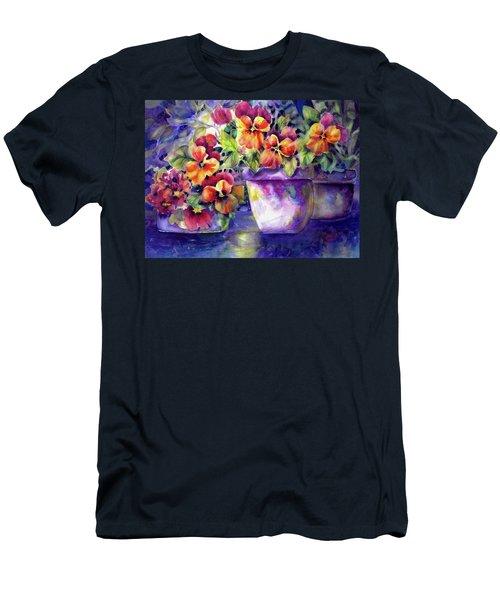 Patio Pansies Men's T-Shirt (Athletic Fit)
