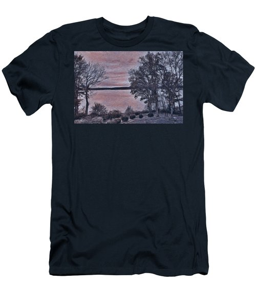 Men's T-Shirt (Athletic Fit) featuring the painting Pennsylvania Landscape by Joan Reese
