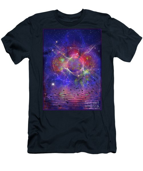 Photon Rings Men's T-Shirt (Athletic Fit)