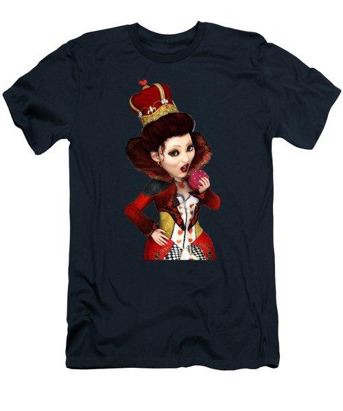 Queen Of Hearts Portrait Men's T-Shirt (Athletic Fit)