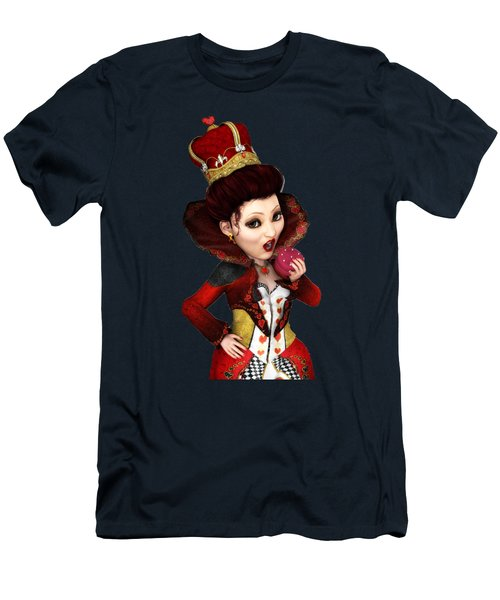 Queen Of Hearts Portrait Men's T-Shirt (Athletic Fit)