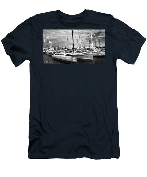 Men's T-Shirt (Athletic Fit) featuring the photograph Route Du Rhum Ready by Elf Evans