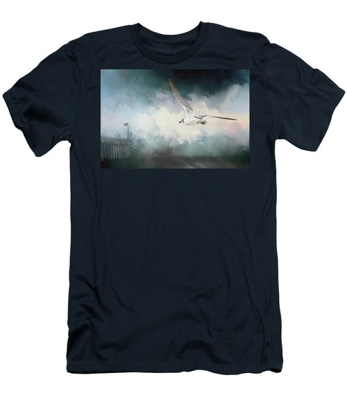 Seagull In Flight Men's T-Shirt (Slim Fit) by Sennie Pierson