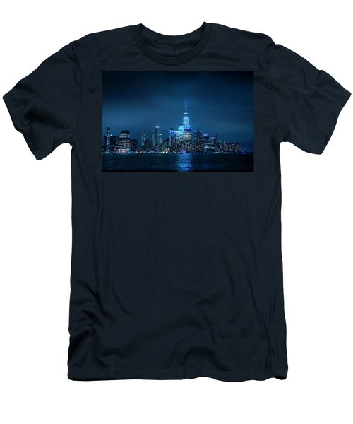 Skyline At Night Men's T-Shirt (Athletic Fit)