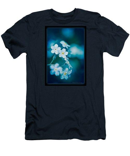 Soft Blue Men's T-Shirt (Slim Fit) by Michaela Preston