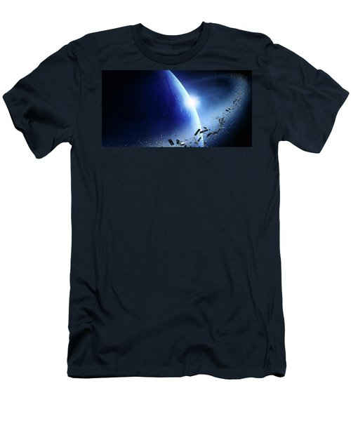 Space Junk Orbiting Earth Men's T-Shirt (Athletic Fit)