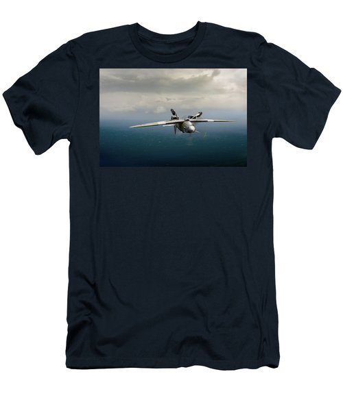 Men's T-Shirt (Athletic Fit) featuring the photograph Spitfire Pr Xix Ps915 Inverted by Gary Eason