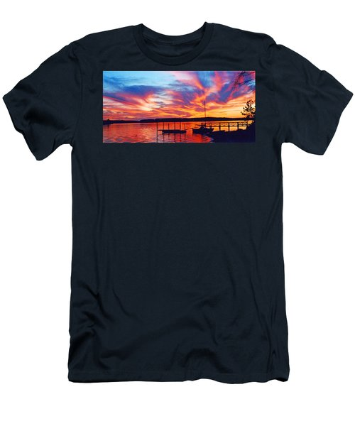 Sunset Over Lake Murray Men's T-Shirt (Athletic Fit)