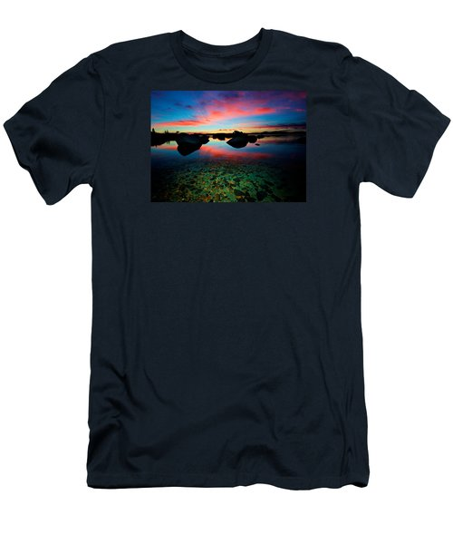 Sunset With A Whale Men's T-Shirt (Slim Fit) by Sean Sarsfield
