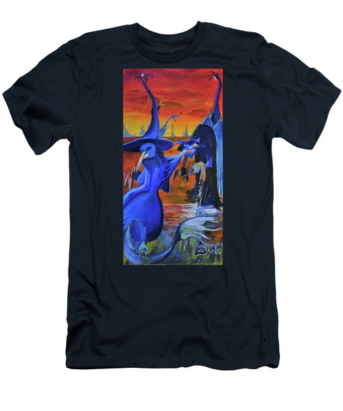 The Cat And The Witch Men's T-Shirt (Athletic Fit)