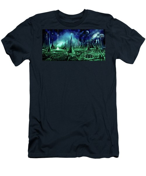 Men's T-Shirt (Slim Fit) featuring the painting The Enneanoveum by James Christopher Hill