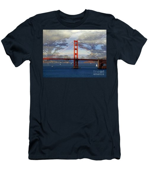 The Golden Gate Bridge  Men's T-Shirt (Slim Fit) by Scott Cameron