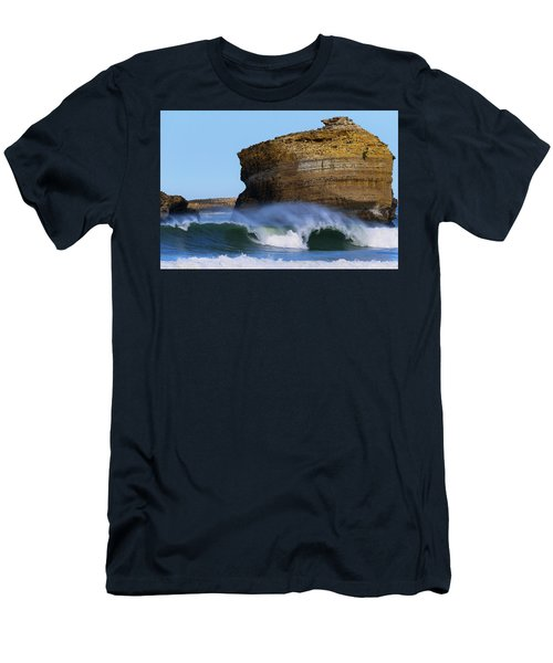Men's T-Shirt (Slim Fit) featuring the photograph The Wave by Thierry Bouriat