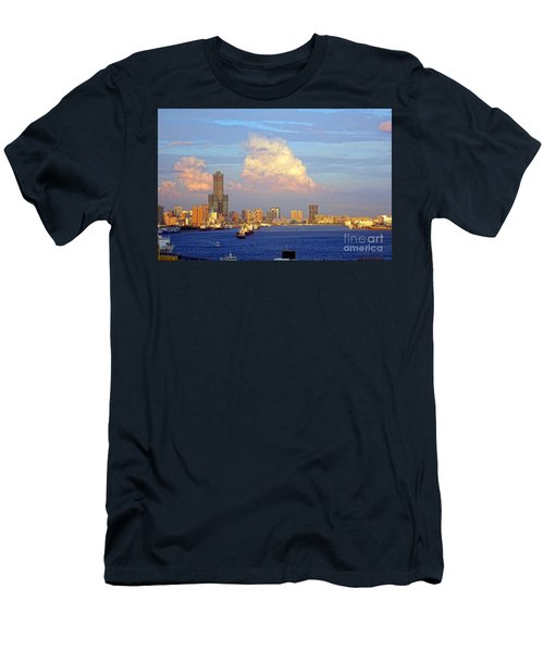 View Of Kaohsiung City At Sunset Time Men's T-Shirt (Slim Fit)