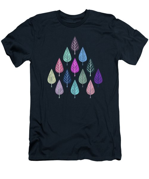 Watercolor Forest Pattern IIi Men's T-Shirt (Athletic Fit)