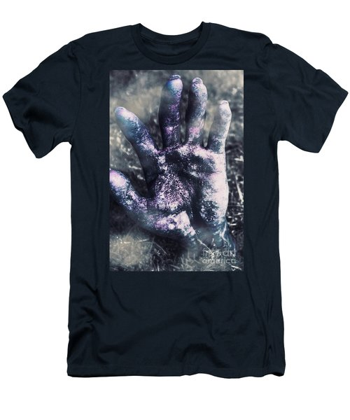 Zombie Rising From A Shallow Grave Men's T-Shirt (Athletic Fit)
