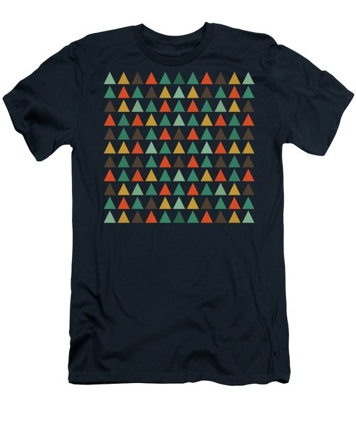 Colorful Geometric Background Men's T-Shirt (Athletic Fit)