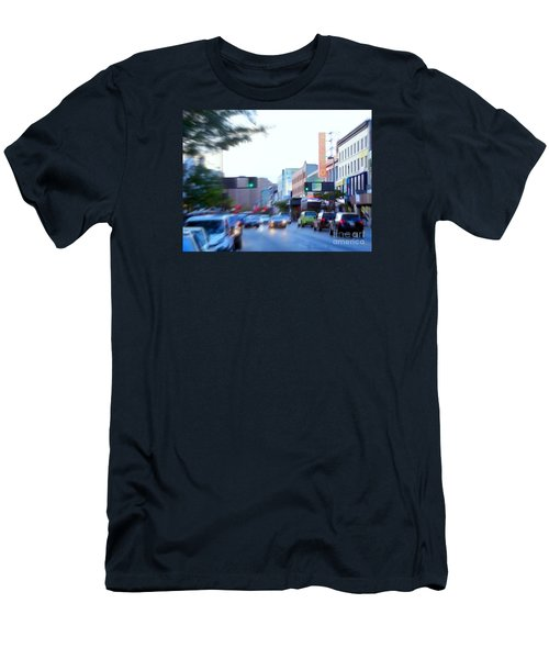 125th Street Harlem Nyc Men's T-Shirt (Slim Fit) by Ed Weidman