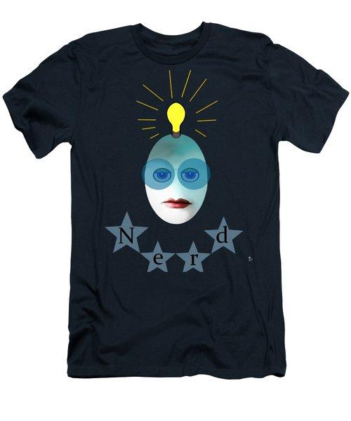 1282 - Nerd T Shirt Design Men's T-Shirt (Athletic Fit)