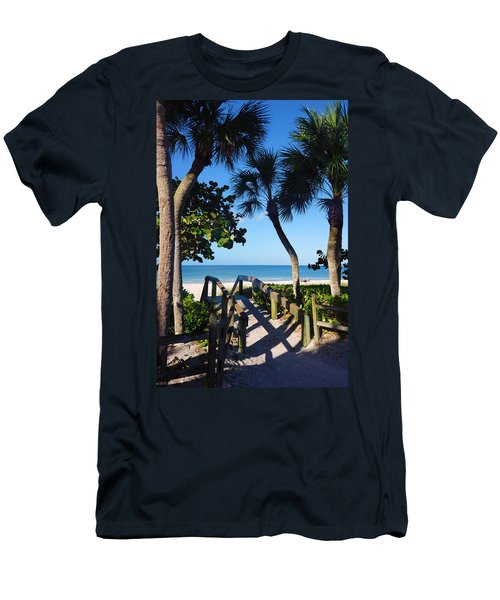 14th Ave S Beach Access Ramp - Naples Fl Men's T-Shirt (Athletic Fit)
