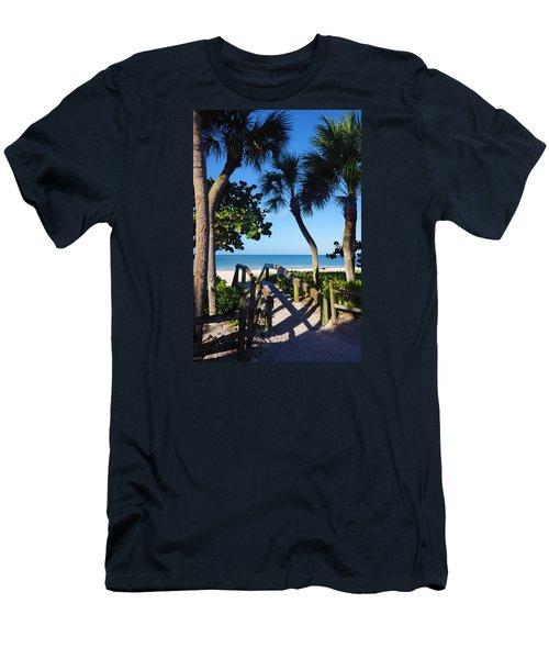 14th Ave S Beach Access Ramp - Naples Fl Men's T-Shirt (Athletic Fit)