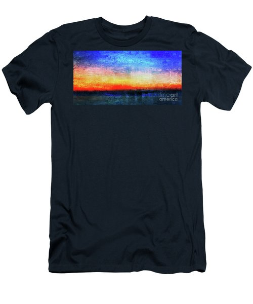 15a Abstract Seascape Sunrise Painting Digital Men's T-Shirt (Athletic Fit)