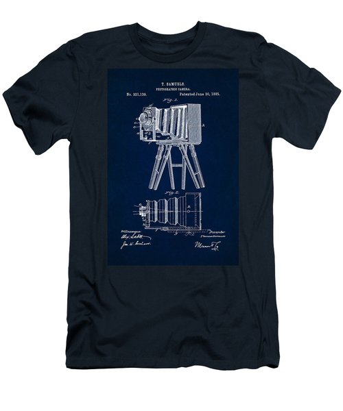 1885 Camera Us Patent Invention Drawing - Dark Blue Men's T-Shirt (Athletic Fit)