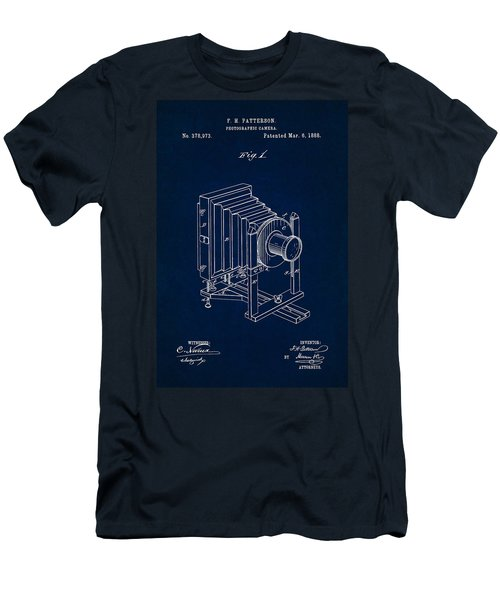 1888 Camera Us Patent Invention Drawing - Dark Blue Men's T-Shirt (Athletic Fit)