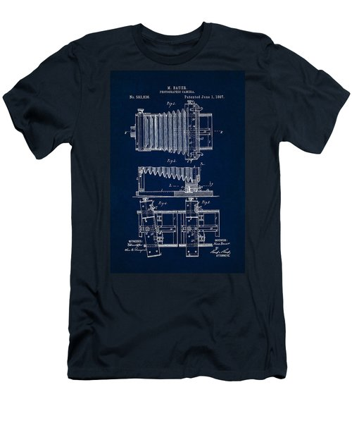 1897 Camera Us Patent Invention Drawing - Dark Blue Men's T-Shirt (Athletic Fit)