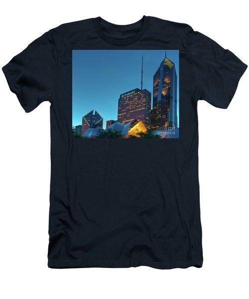 A View From Millenium Park At Dusk Men's T-Shirt (Athletic Fit)