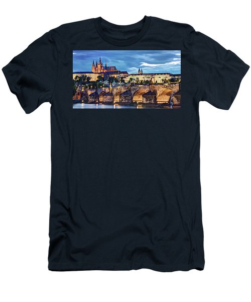 Charles Bridge And Prague Castle / Prague Men's T-Shirt (Athletic Fit)