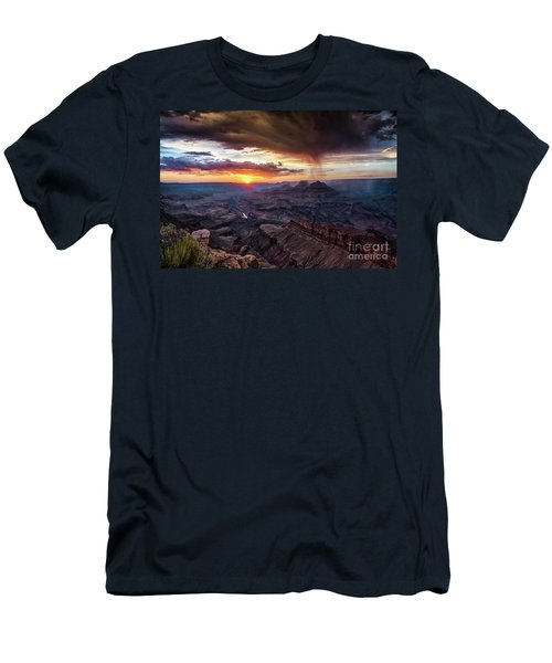 Grand Canyon Monsoon Sunset Men's T-Shirt (Athletic Fit)