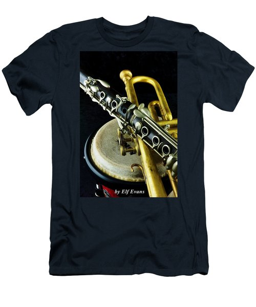 Men's T-Shirt (Athletic Fit) featuring the photograph Jazz by Elf Evans
